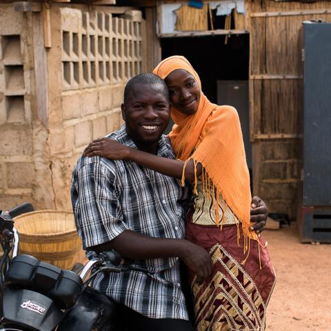 Newlywed couple in Ouagadougou.