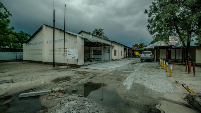 Onandjokwe Hospital serves as the primary health care center for the Onandjokwe District of the Oshikoto Region, which has a size of about 25,000 kilometers. Before decentralization, it was the only place to get HIV-related services for over 81,000 people. Photo by Morgana Wingard for IntraHealth International.